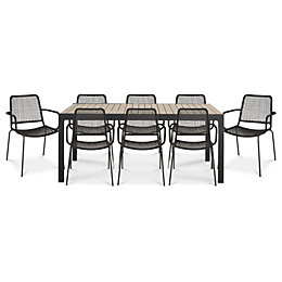 Oberon Metal 8 seater Dining set