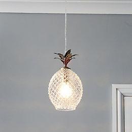 Bora Pineapple Antique brass effect Ceiling light