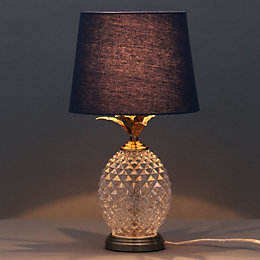 Bora Pineapple Antique Brass Effect Table Lamp