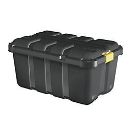 Form Skyda Black 120L Storage trunks, Pack of