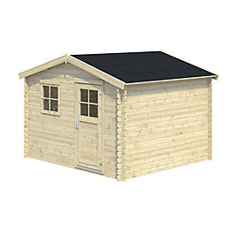 10x9 BELAÏA Apex roof Tongue & groove Wooden