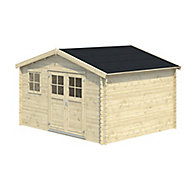 12x10 BELAÏA Apex roof Tongue & groove Wooden Shed with floor