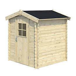 5x5 MOKAU Apex roof Tongue & groove Wooden