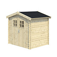 6x5 MOKAU Apex roof Tongue & groove Wooden Shed with floor