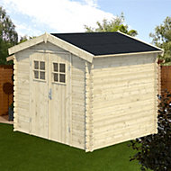 7x6 MOKAU Apex roof Tongue & groove Wooden Shed with floor