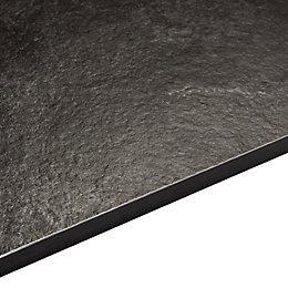 12.5mm Exilis Black Textured Stone Effect Square edge