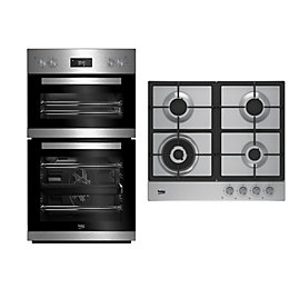 Beko Double Oven & Gas Hob Pack