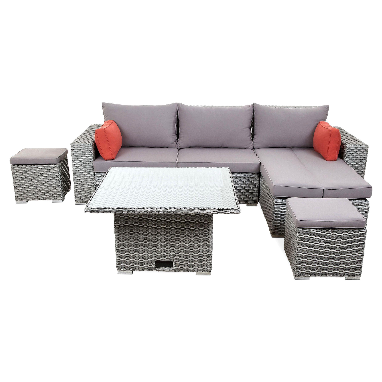 Gabbs Grey Rattan Effect Sofa Set Departments Diy At B Q