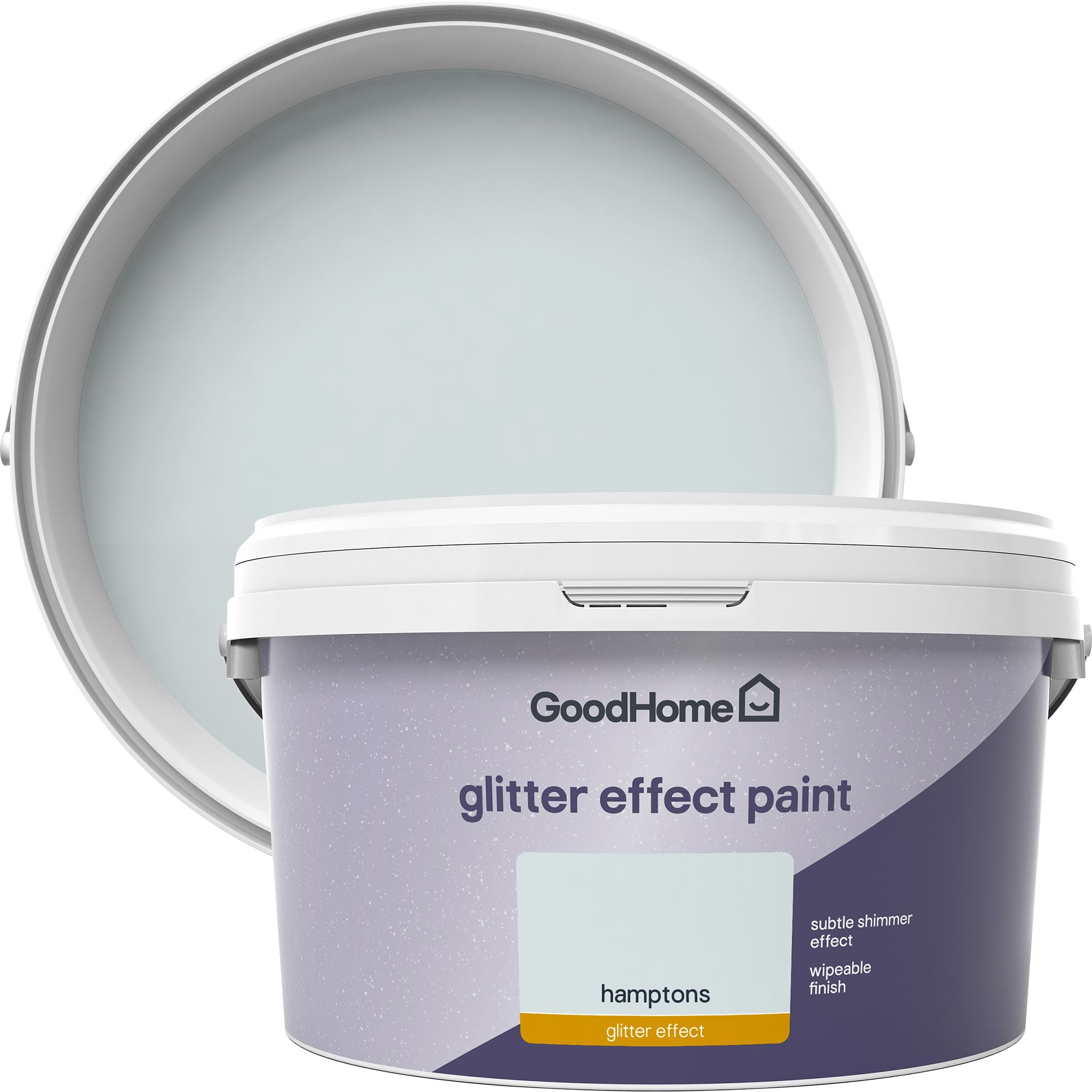 GoodHome Feature wall Hamptons Glitter effect Emulsion paint 2L |  Departments | DIY at B&Q