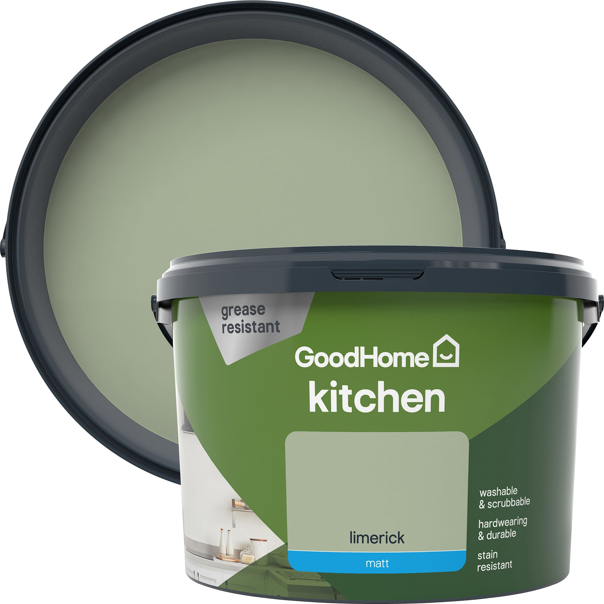 Goodhome Kitchen Limerick Matt Emulsion Paint 2 5l