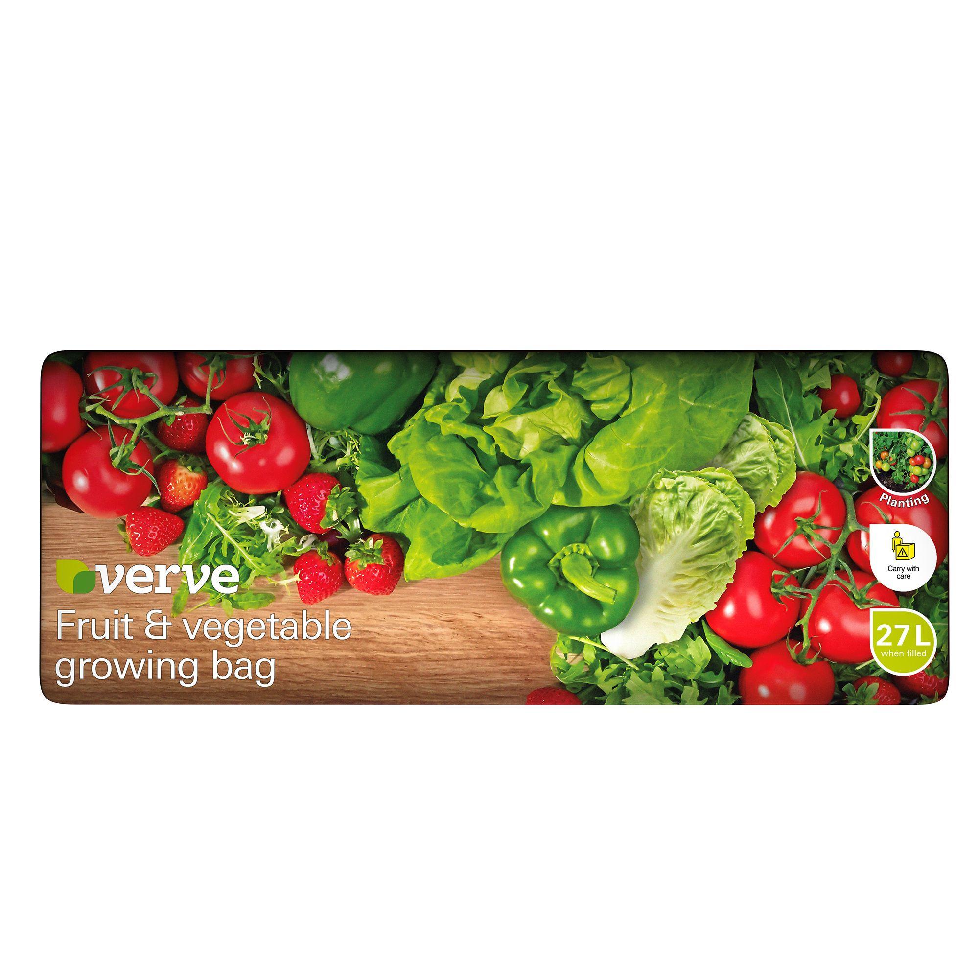 Verve Fruit Vegetable Grow Bag 27l Departments Diy At B Q