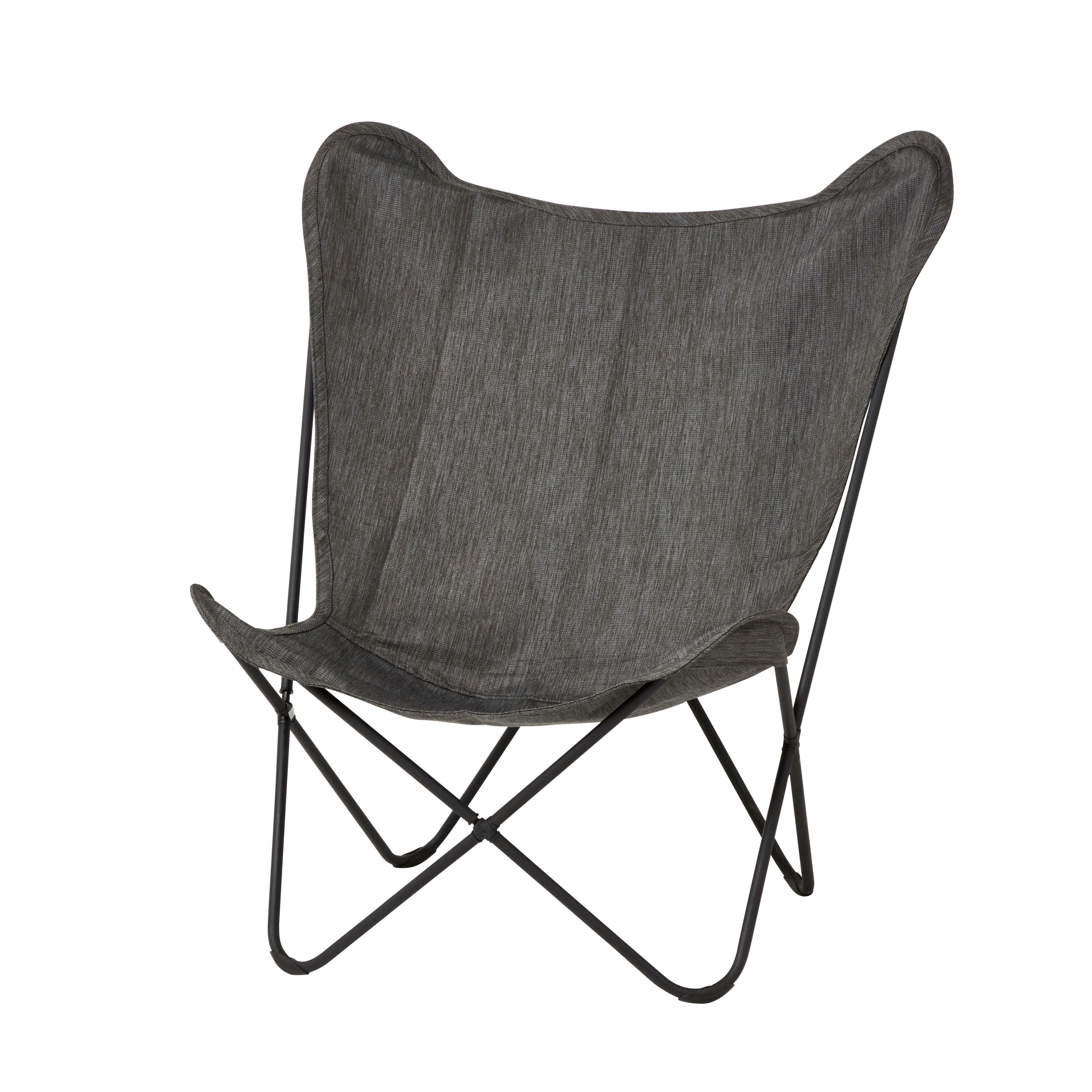 Mataso Grey Metal Chair Departments Diy At B Q