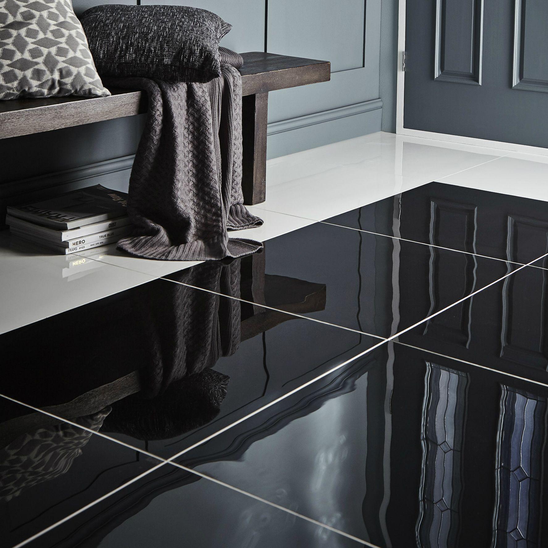 Livourne Black Porcelain Floor Tile L