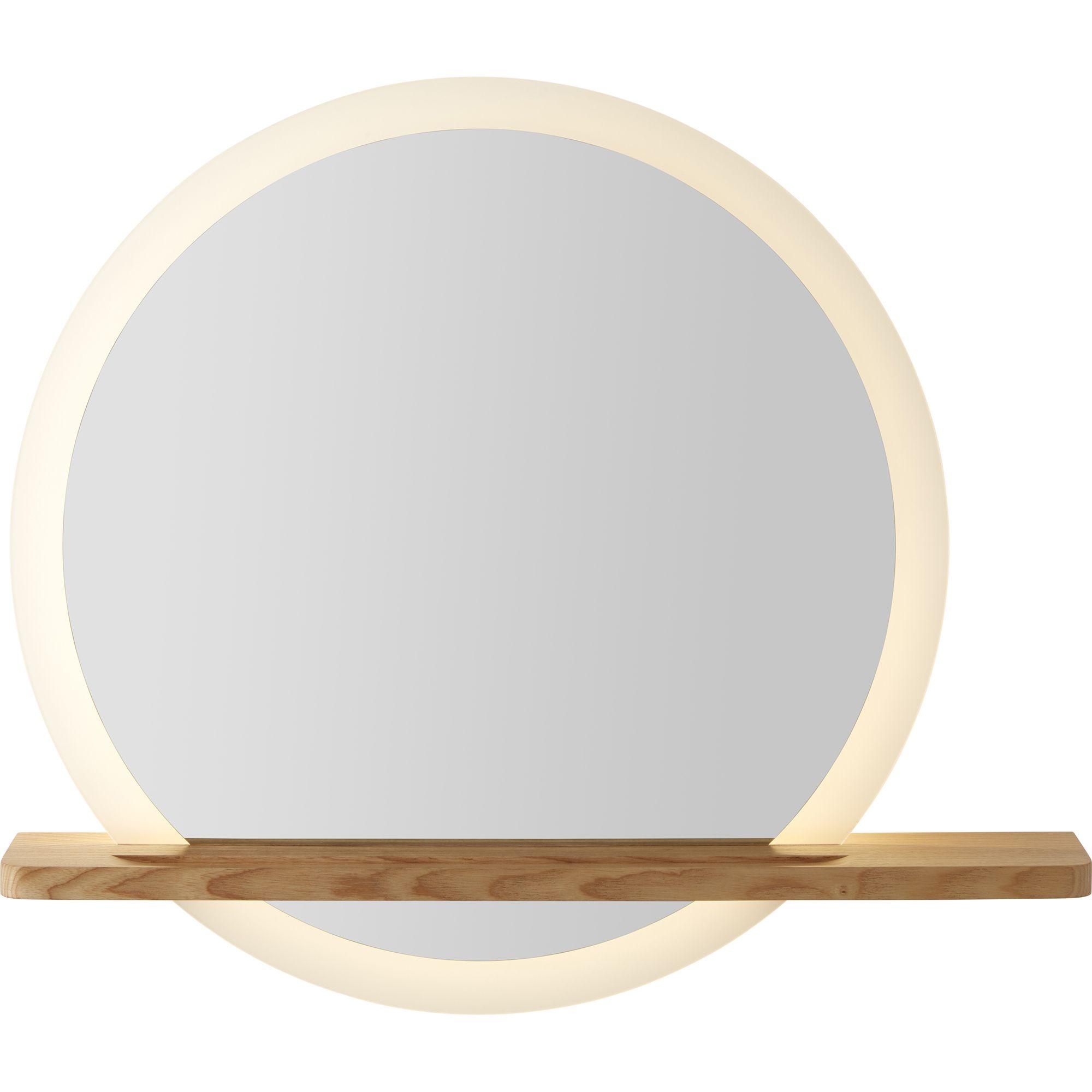 GoodHome Adriska Round Illuminated Bathroom mirror (H)25mm ...