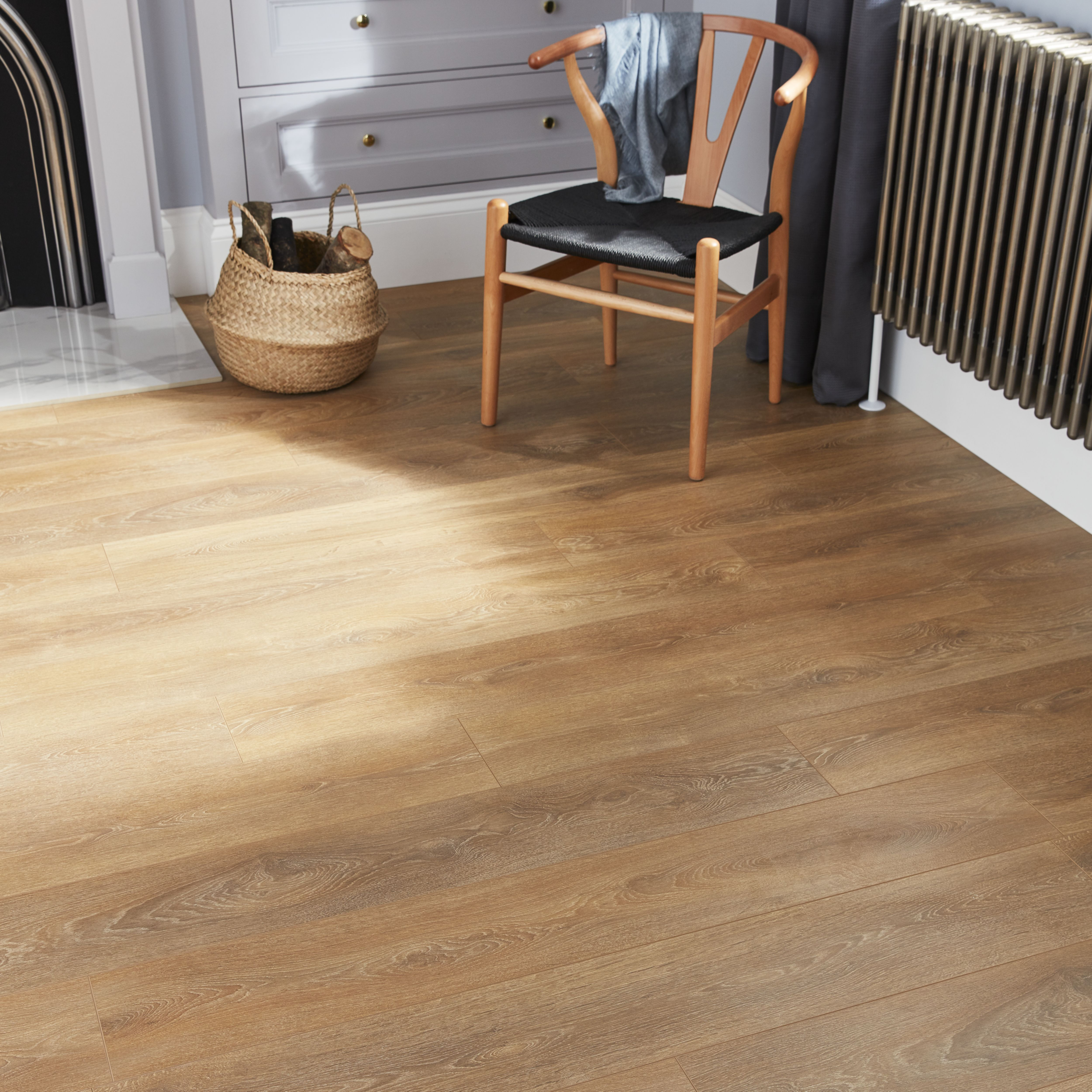 GoodHome Mossley Natural oak effect