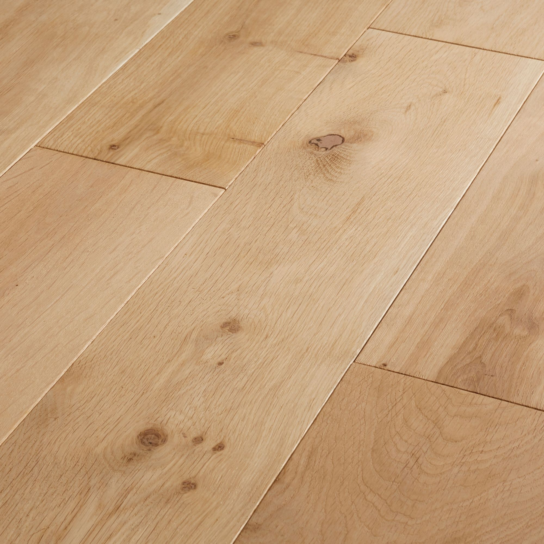 Goodhome Lulea Natural Oak Solid Wood
