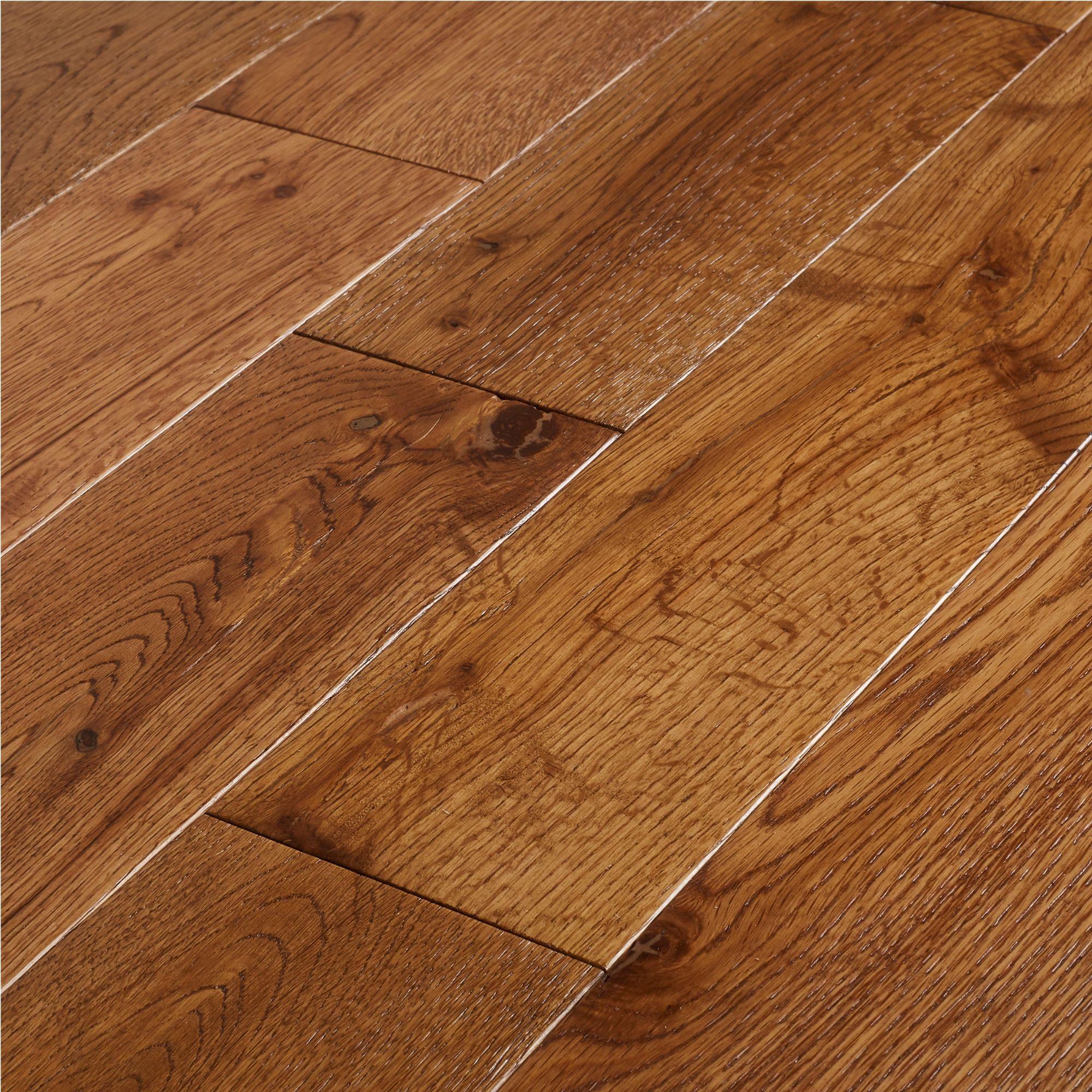 Goodhome Skara Natural Oak Solid Wood