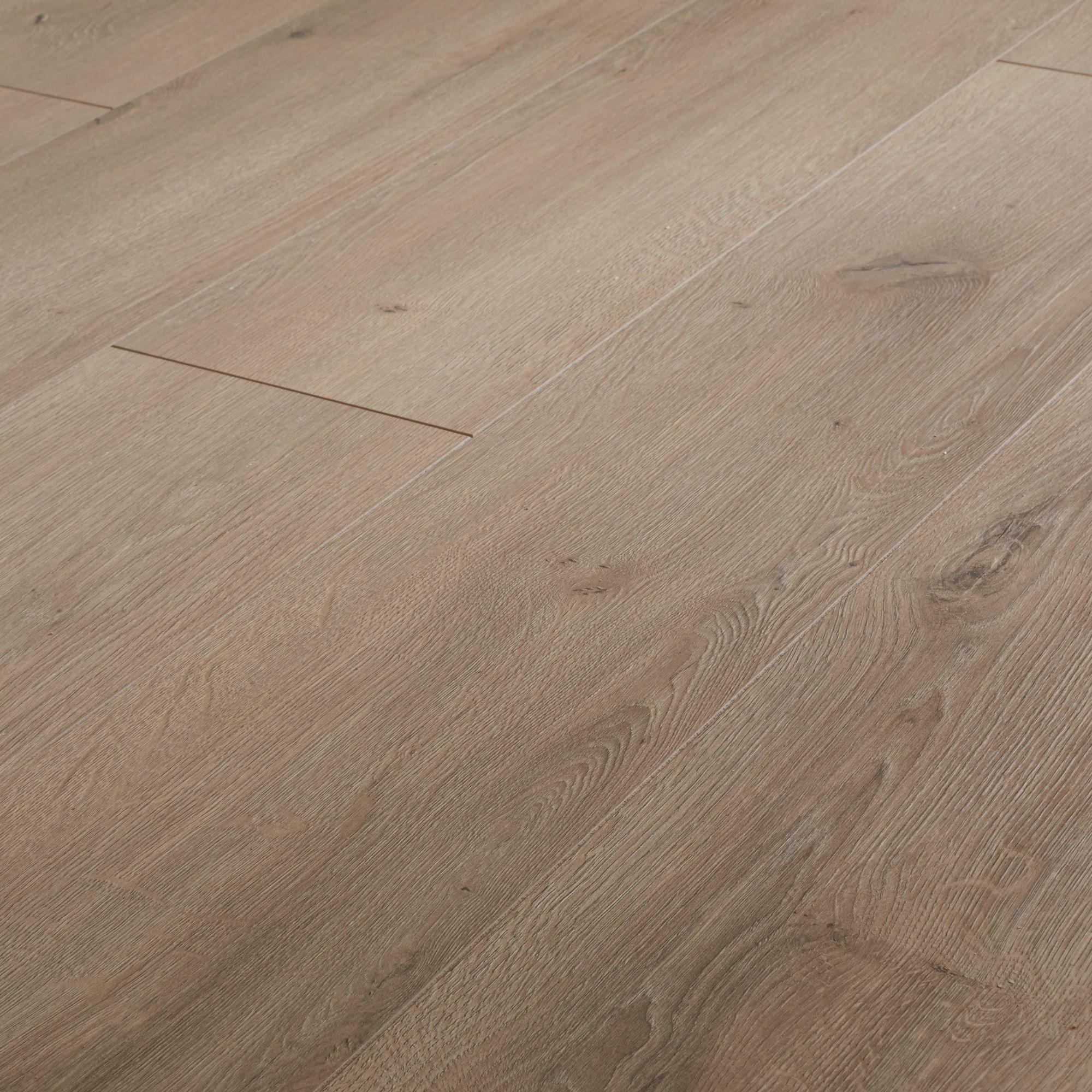 B Q Kitchen Cabinets Sale: GoodHome Leiston Grey Oak Effect Laminate Flooring, 1.76m²
