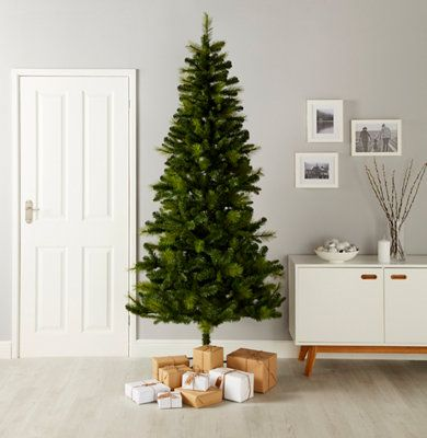 7ft Christmas Tree.7ft 6in Eiger Artificial Christmas Tree Departments Diy At B Q