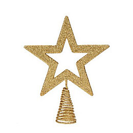 Glitter Gold effect Star Cut Out Tree topper