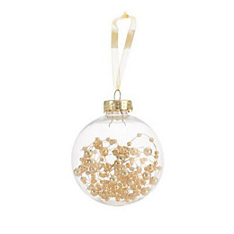 Gold effect Bead filled Bauble