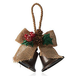 Bells with hessian bow Decoration