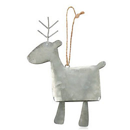 Galvanised Reindeer Decoration