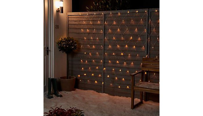 120 warm white LED net Christmas lights