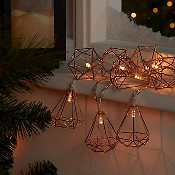 Copper Wire Diamond String Lights
