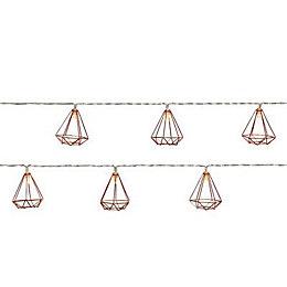10 Warm white LED Diamond String lights