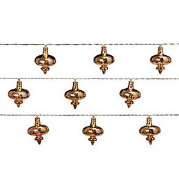 16 Warm white LED Bauble String lights