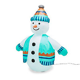 Mains powered 5ft Snowman Inflatable