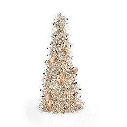 Champagne Tinsel Table top tree
