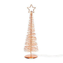 Copper Metallic Wire Table top tree