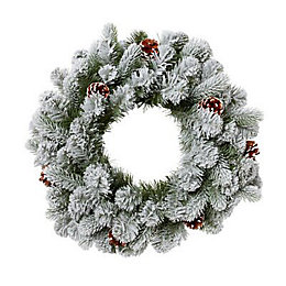 50cm 0.5m Frosted Wreath