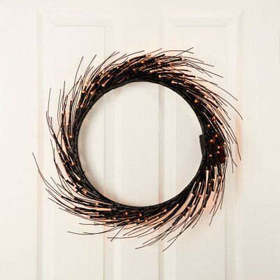 33cm Black Twig Wreath