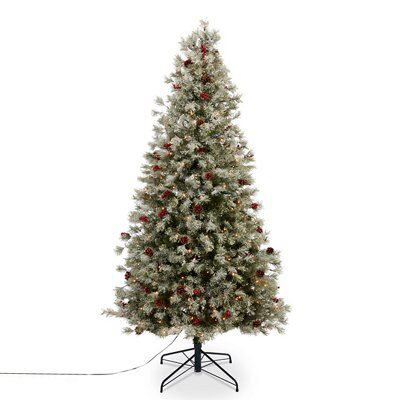 7 5ft Fairview Berry Pine Cone Design Artificial Christmas Tree Departments Diy At B Q