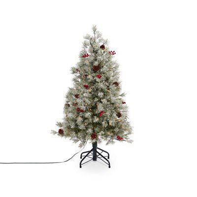 4ft Christmas Tree.4ft Fairview Led Christmas Tree Departments Diy At B Q