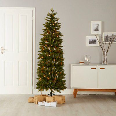 Artificial Christmas Tree.6ft Holimont Pop Up Pre Lit Artificial Christmas Tree Departments Diy At B Q