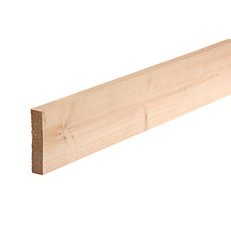Planed timber (T)28mm (W)94mm (L)2100mm