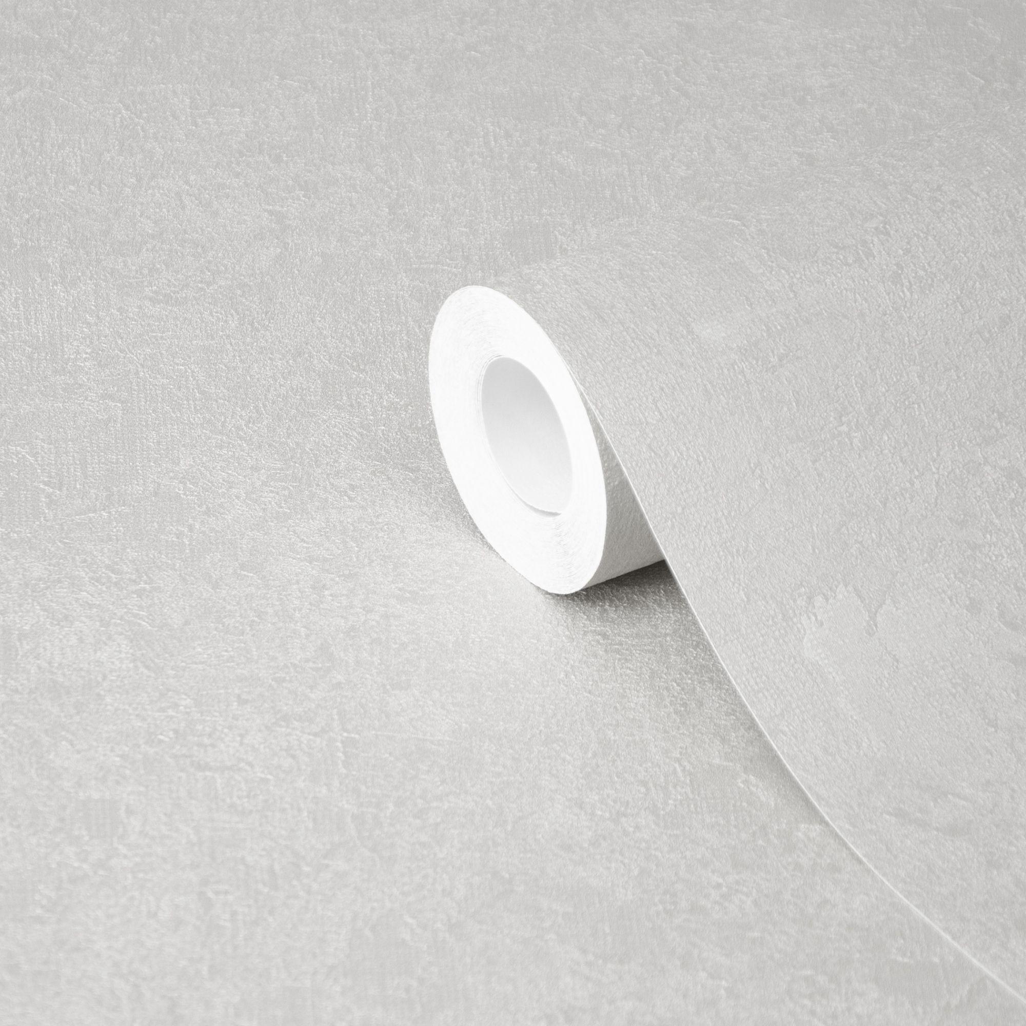 GoodHome Malmy Light Grey Plain Wallpaper   Departments ...