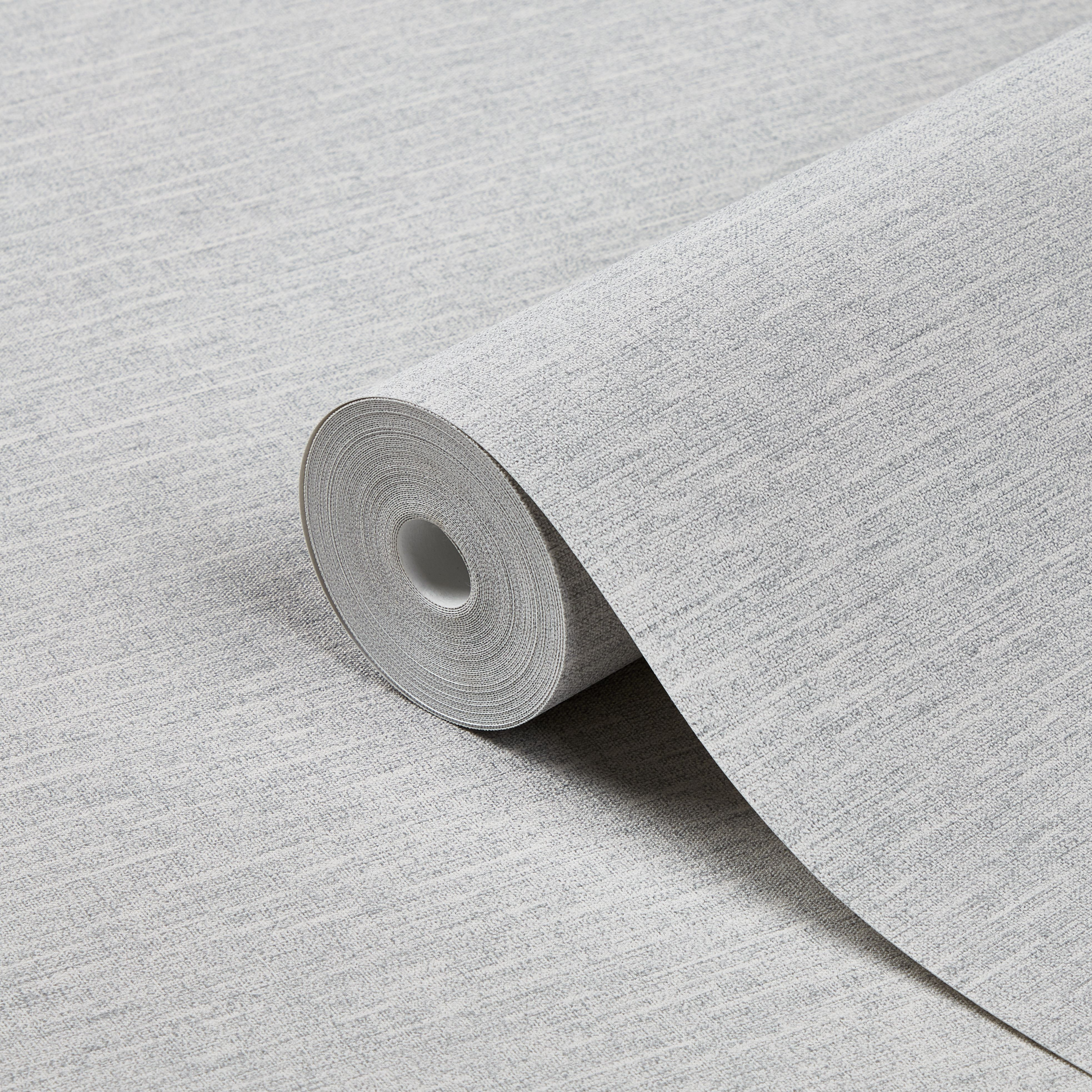 Goodhome Arceau Grey Textured Wallpaper Departments