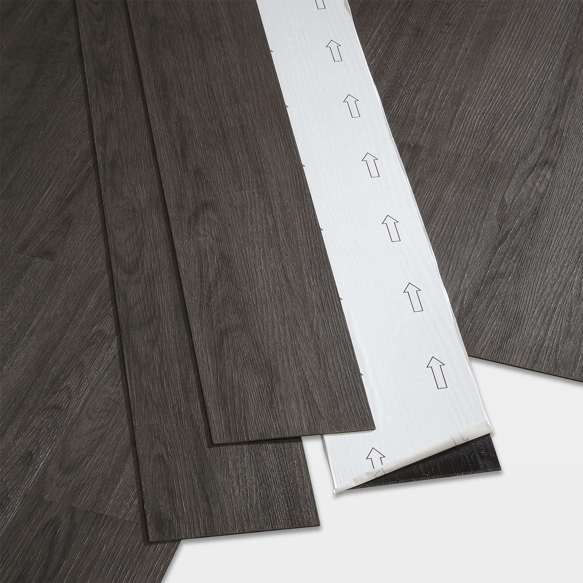 Goodhome Poprock Dark Grey Wood Effect Self Adhesive Vinyl