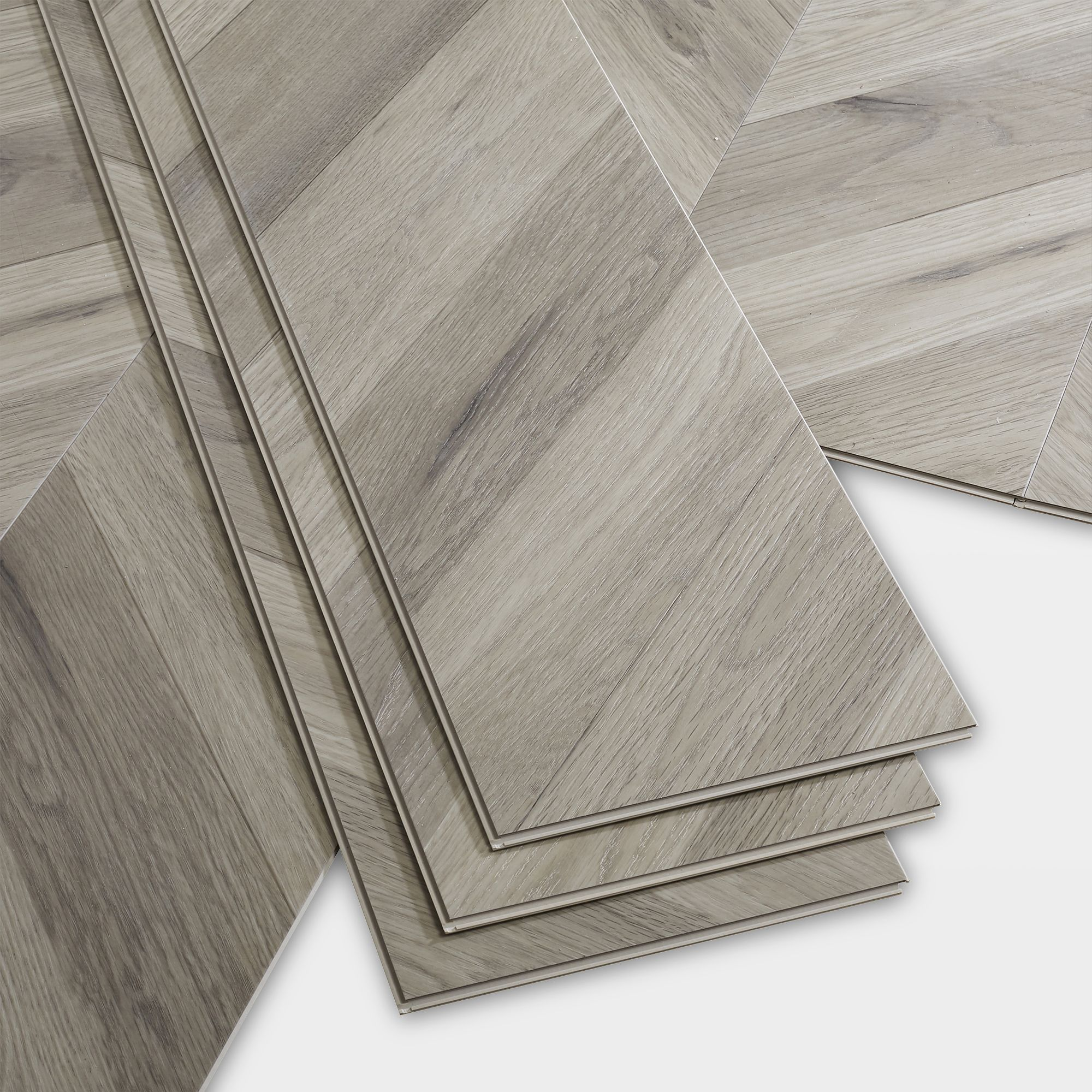 Goodhome Jazy Grey Parquet Effect Luxury Vinyl Click Flooring 2 24m Pack Departments Diy At B Q