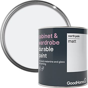 GoodHome Durable north pole matt cabinet and wardrobe paint