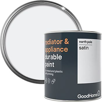 GoodHome Durable North pole Satin Radiator & appliance paint