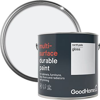 GoodHome Durable North pole Gloss Multi-surface paint