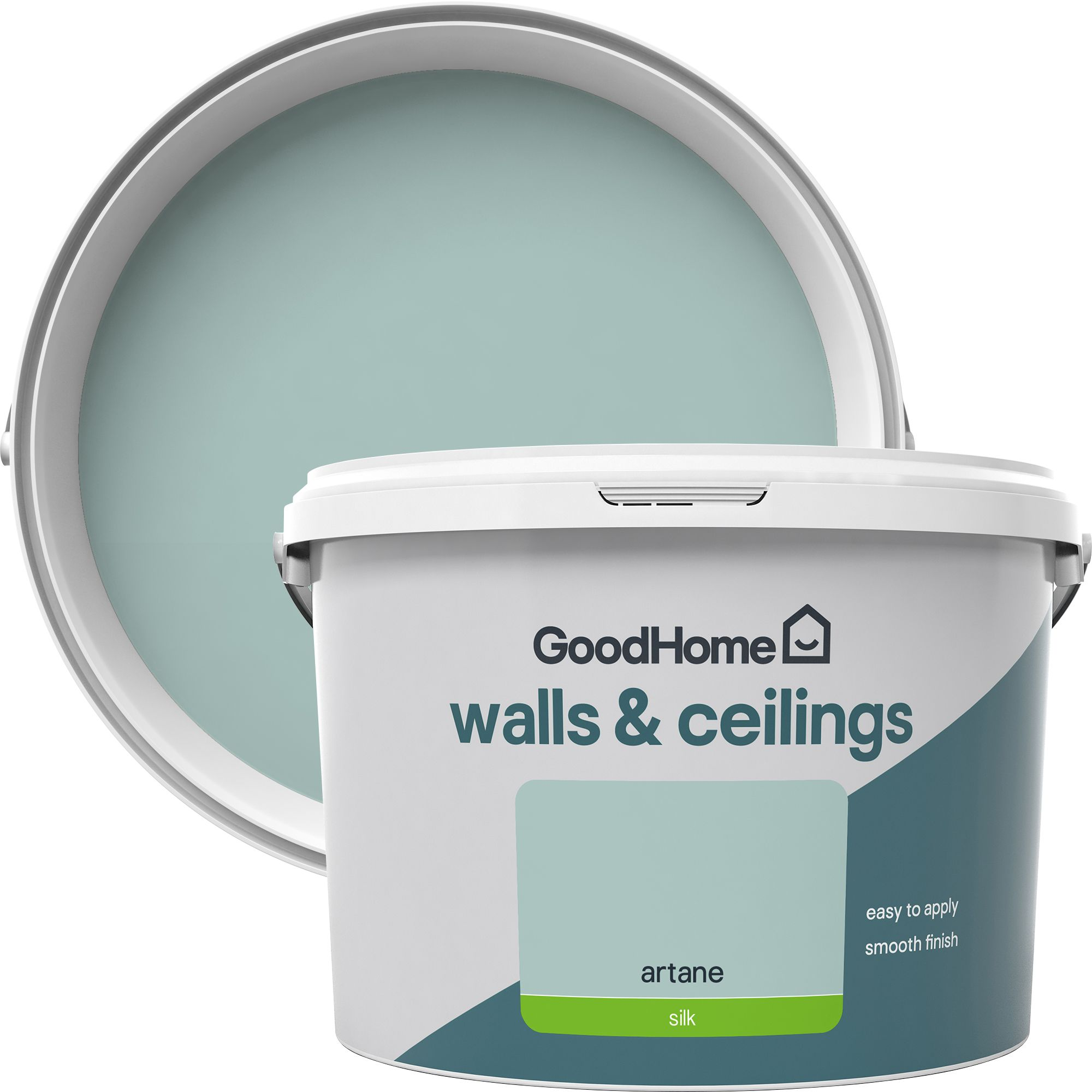 GoodHome Walls & ceilings Artane Silk Emulsion paint 2 5L | Departments |  TradePoint