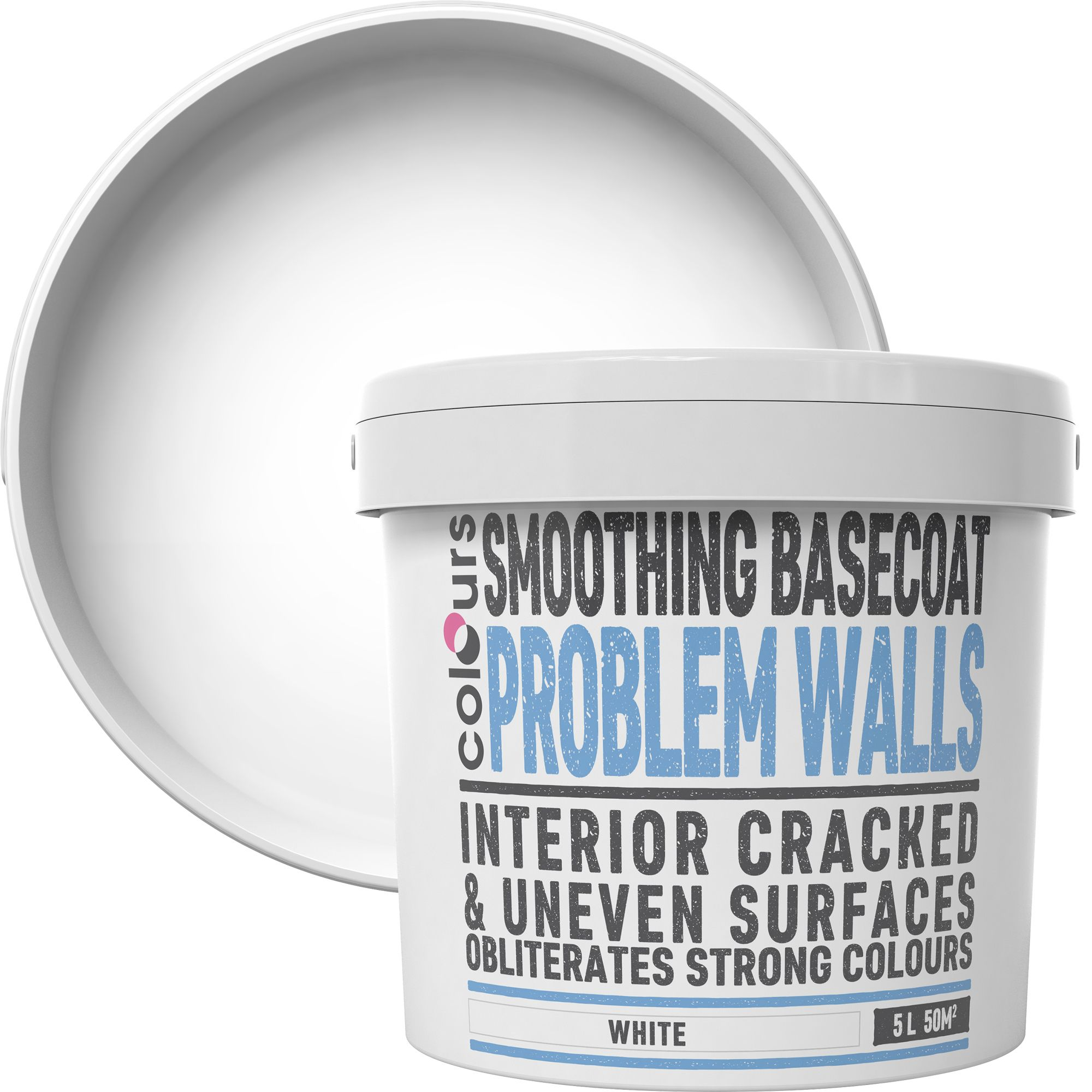 Colours White Problem walls Smoothing base coat 5L | Departments | DIY at  B&Q