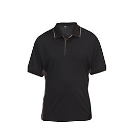 Site Black & grey Barchan Two tone polo